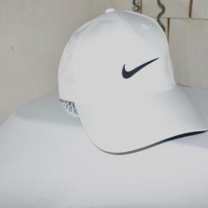 All White Nike Hat
